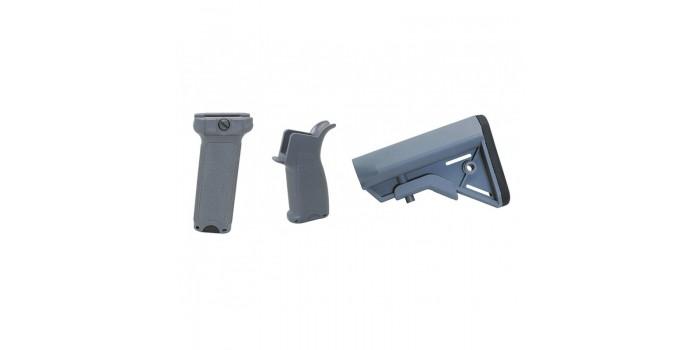 Airsoft : Dytac Kit Bravo Long pour M4 AEG (Midnight Grey)