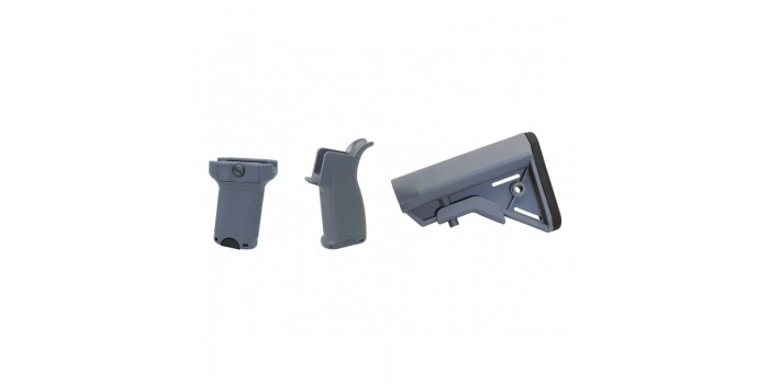 Airsoft : Dytac Kit Bravo pour M4 AEG (Midnight Grey)