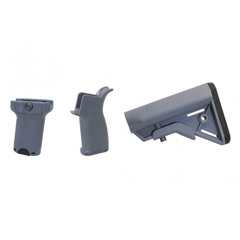 Dytac Kit Bravo pour M4 AEG (Midnight Grey) | Airsoft Entrepot
