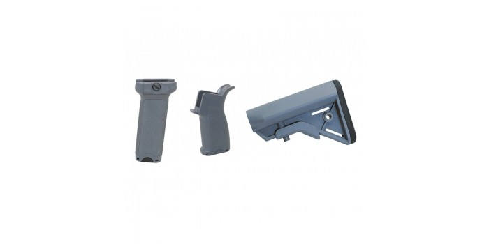 Airsoft : Dytac Kit Bravo Long pour M4 AEG (Midnight Grey)