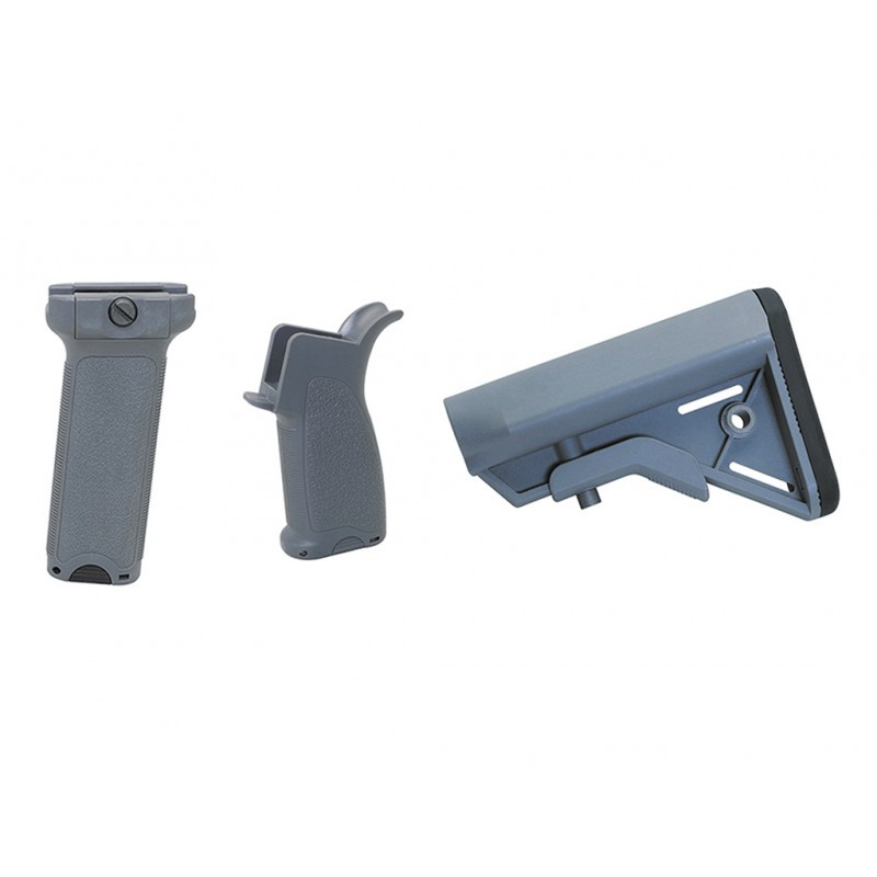 Dytac Kit Bravo Long pour M4 AEG (Midnight Grey) | Airsoft Entrepot