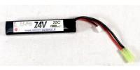 Batterie Airsoft Entrepot LiPo 7.4V 25C 1500mah Stick