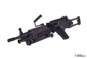 FN M249 Noir AEG 6 mm 300 Bbs 1J Nylon fibre