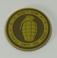 Patch Grenade Rond Tan