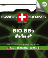 SWISS ARMS Billes BIO Blanche 0.25gr (Sac de 1 Kg)