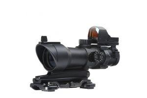 Aim-O Lunette ACOG 4×32 avec MRDS (Noir)