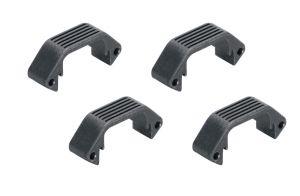 Amoeba Lot de Demi-Sections Plates Pour Garde-Main Modulaire (Noir)