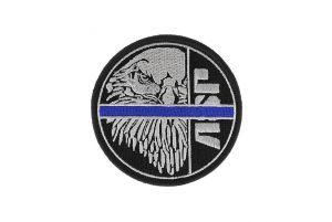 ASP Patch BLUE LINE Argent-Noir
