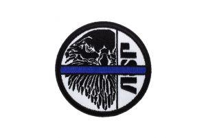 ASP Patch BLUE LINE Noir-Blanc