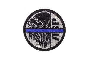 ASP Patch BLUE LINE Noir-Argent