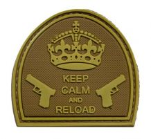 Patch Keep Calm And Reload Tan