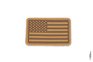 Patch PVC Drapeau USA (Tan)