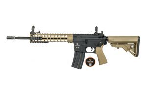 """Evolution Airsoft Recon S 14.5"""" Carbontech (Tan) Deluxe"""