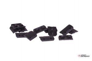 12-PC Type2 M-LOK Rail Cover (couvre-rail) Set (Noir)