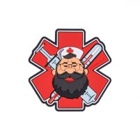 Helikon Patch PVC Beardman Medic (Rouge)