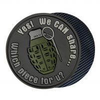 Helikon Patch PVC We Can Share Grenade (Marron)