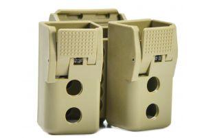 APS Porte chargeurs QM Double (TAN)