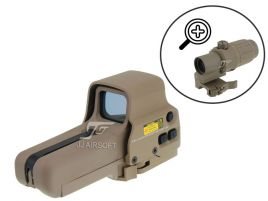 JJ Airsoft Combo G33 et Red Dot Type Eotech 558 (TAN)