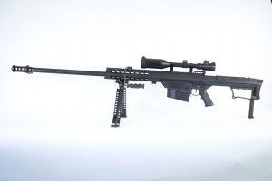 Snow Wolf Barret M107 AEG avec lunette 3-9X50E (Noir)