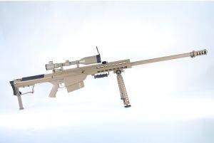Snow Wolf Barret M107 AEG avec lunette 3-9X50E (Tan)