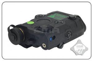 FMA PEQ-15 LED + Laser Vert (Noir)