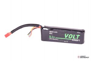 Volt Airsoft Batterie LiPo 11.1v 1800mAh 25C Mini Pack (Deans Large)