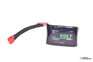 Volt Airsoft Batterie LiPo 7.4v 1600mAh 25C PEQ (Deans Large)