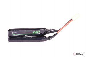 Volt Airsoft Batterie LiPo 7.4v 2200mAh 25C Sopmod (Tamiya Mini)