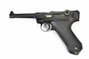 """WE P08 Luger 4"""" GBB (Noir)"""