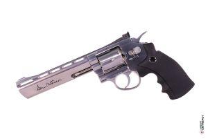 "ASG Revolver Dan Wesson 6"" NBB (Basse Puissance / Chrome)"