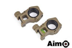 Aim-O Anneaux 25/30mm avec Niveau à Bulle (DE)
