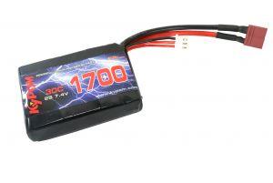 Kypom Batterie LiPo 7,4V 1700mAh 30C pour PEQ15 (Deans Large)