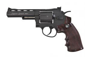 WinGun 6mm 4' Revolver (Co2) Noir/WD