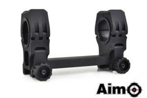 Aim-O Montage Pour Lunettes 25/30mm Avec Niveau à Bulle (Noir)