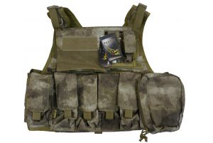 Flyye Plate Carrier avec poches (M / A-Tacs)