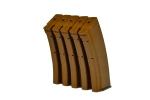 MAG Boite de 5 Chargeurs Mid-Cap 100BBs AK74 (Bakelite)