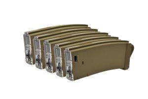 Modify Boite de 5 Chargeurs M4 Tracer Bhive 150BBs Tan