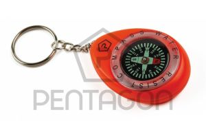 Pentagon Porte-Clefs Boussole Waterproof Orange