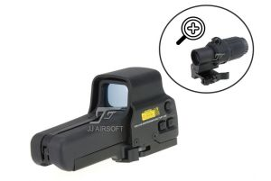 JJ Airsoft Combo G33 et Red Dot Type Eotech 558 (BK)