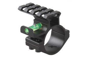 Vector Optics Anneau 30/25.4mm avec Rail et Niveau à Bulle