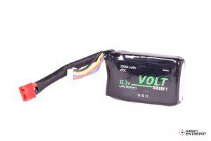 Volt Airsoft Batterie LiPo 11.1v 1300mAh 25C PEQ (Deans Large)