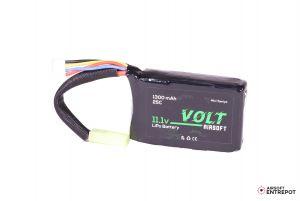 Volt Airsoft Batterie LiPo 11.1v 1300mAh 25C PEQ (Tamiya Mini)