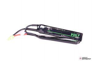 Volt Airsoft Batterie LiPo 7.4v 1100mAh 25C Sopmod Fine (Tamiya Mini)
