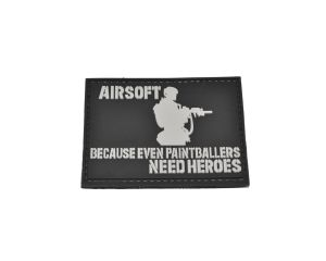 Patch Airsoft Heroes (Noir)