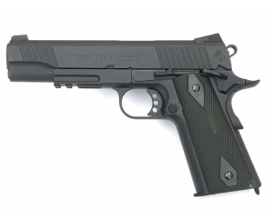 Colt 1911 Rail Gun Noir CO2