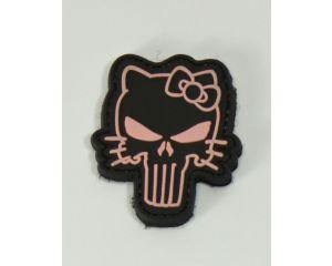Patch Hello Punisher Noir & Rose