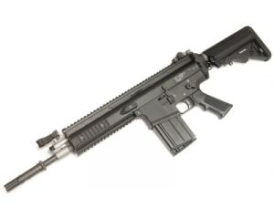 WE MK17-H Black Open Bolt GBB - SOPMOD Version