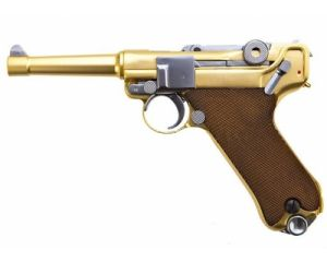"WE Luger P-08 4"" Gold"