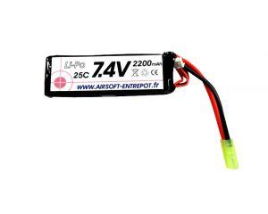 Airsoft Entrepot Batterie LiPo 7.4V 25C 2200mah