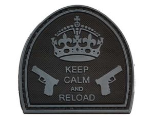 Patch Keep Calm And Reload Noir